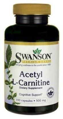 Obrazek SWANSON Acetyl L-Carnityny 500 mg 100 kaps