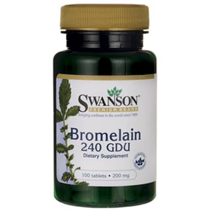 Obrazek SWANSON Bromelina 200 mg 100 tabl.