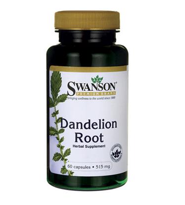 Obrazek SWANSON Dandelion 515 mg 60 kaps