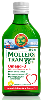 Obrazek Mollers Tran 50+ 250 ml