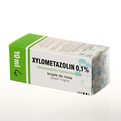 Xylometazolin krople do nosa 0,1%  10ml