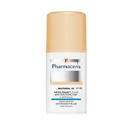 Pharmaceris F Nawilżający fluid antyoksydacyjny z sylimaryną SPF 20 - natural 02 (naturalny) 30 ml