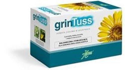 Obrazek GrinTuss herbatka ziołowa dla dróg oddechowych 20 saszetek po 1.5g