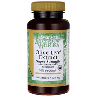 Obrazek SWANSON Ekstrakt z liści drzewa oliwnego 750 mg 60 kapsułek