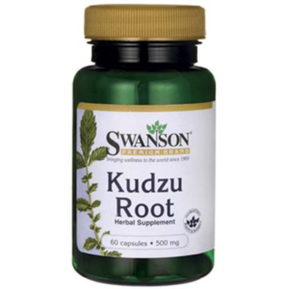 Obrazek SWANSON Kudzu Root - Ołownik łatkowaty 500 mg 60 kaps.