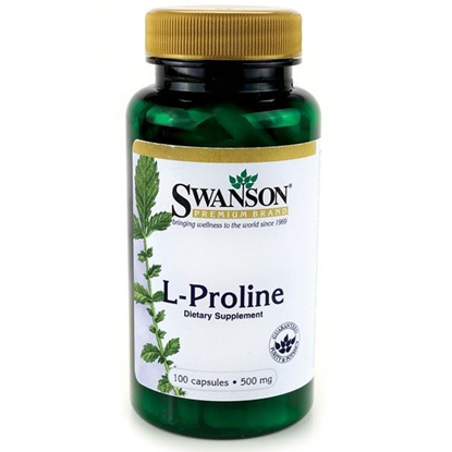 Obrazek SWANSON L-Proline 500 mg 100 kaps.