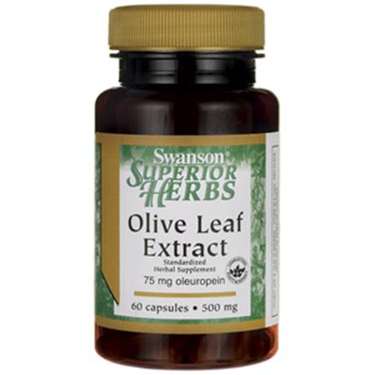 Obrazek SWANSON Olive Leaf Extract 500 mg 60 kaps.