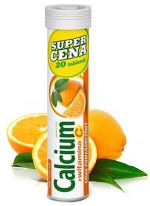 Obrazek Calcium 300 +Vit.C pomarańczowe 20 tabl.