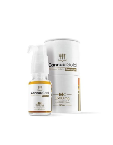 Obrazek CannabiGold Premium olej z CBD 1500mg 12 ml