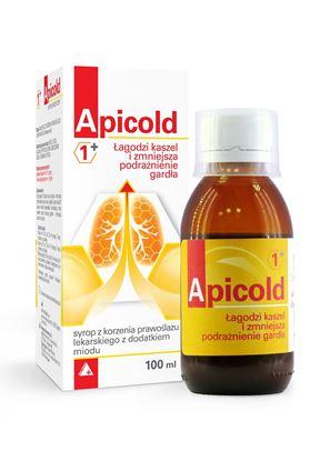 Obrazek Apicold 1+ Syrop z korzenia prawoślazu 100 ml