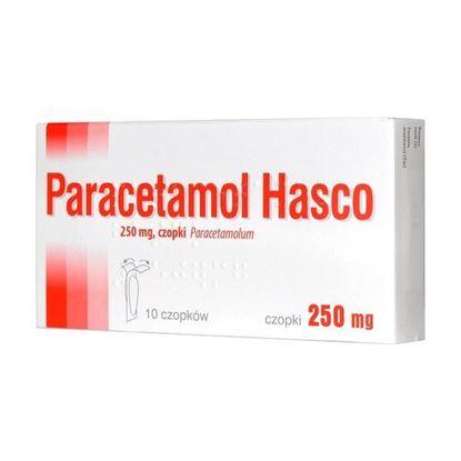 Obrazek Paracetamol Hasco 250 mg 10 czopków
