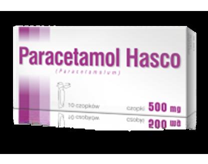 Obrazek Paracetamol Hasco 500 mg 10 czopków