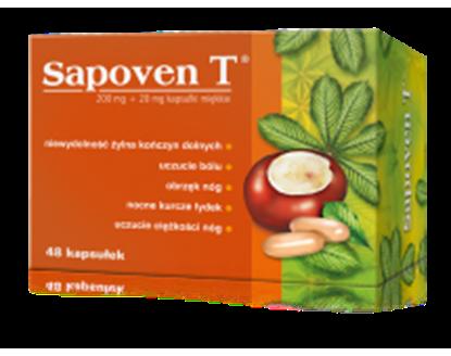 Obrazek Sapoven T 200 mg + 20mg,   48 kapsułek,  Hasco
