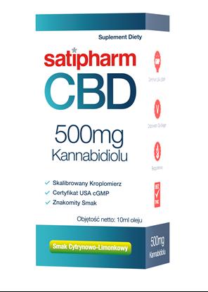 satipharm CBD Kannab. olej cytrynowo limonkowy 500 mg/op. 50ml