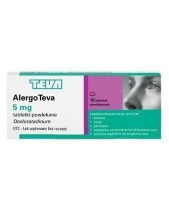 Obrazek Alergo Teva 5 mg 10 tabletek