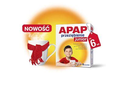 Obrazek Apap Junior 250 mg,  10 saszetek