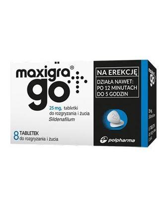 Obrazek Maxigra Go 25 mg 8 tabletek